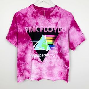 Pink Floyd Tie Dye Cropped Band Tee S M
